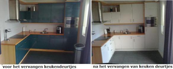 Keukenrenovatie Flevoland : Keukenrenovatie en keukendeurtjes vervangen met keukenblad