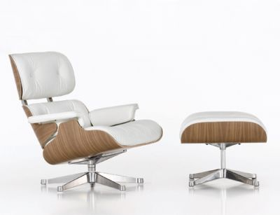Charles & Ray Lounge Stoel / Fauteuil (Wit & Zwart)