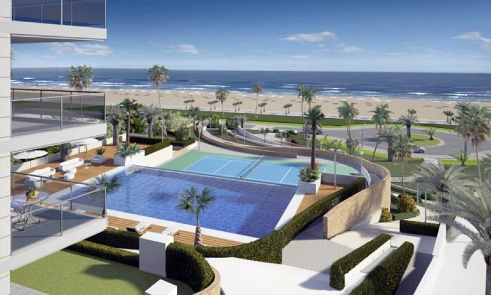 Moderne appartementen direct aan zee te koop in Elche Costa Blanca