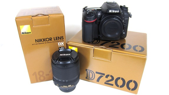 Nikon D7200 24MP DSLR Camera (w/ 18-200mm VR II) Lens Kit