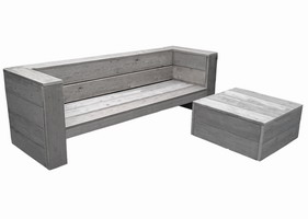 Lounge bank steigerhout €199,99