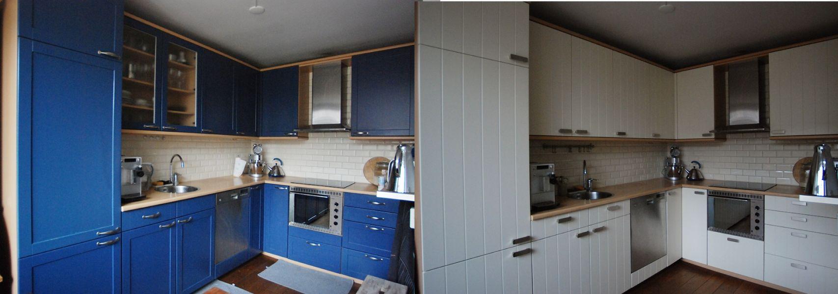 Keukenrenovatie en keukendeurtjes vervangen met keukenblad